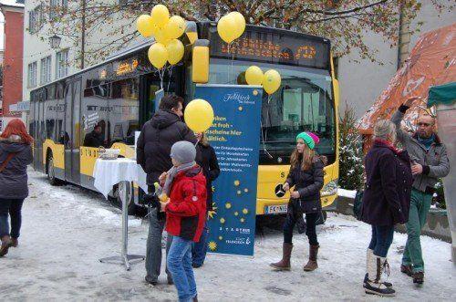 Der Weihnachtsbus bietet heuer einen Zusatz.  Foto: Stadt Feldkirch