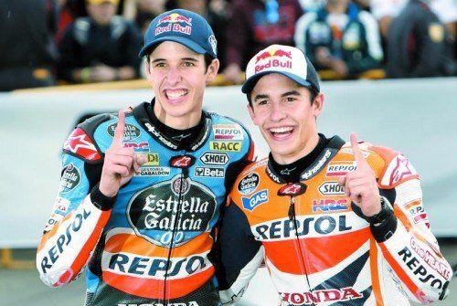 Die Champions-Brüder Alex (l.) und Marc Marquez. Foto: ap