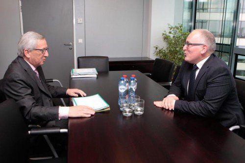 Die Herkunftsländer von Jean-Claude Juncker und Frans Timmermans sind Steuerparadiese für internationale Konzerne.  Foto: EPA