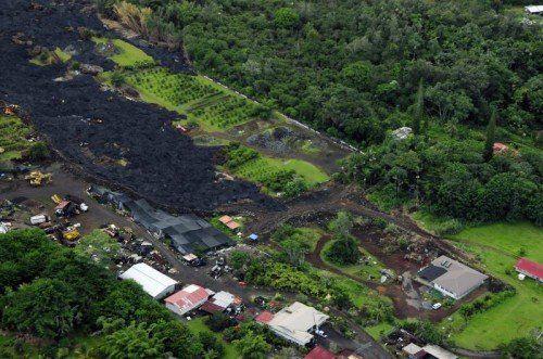 Die Lava vor Pahoa könnte wieder aktiver werden. Foto: EPA