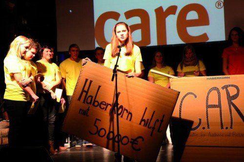 Die Lehrlinge wurden auch beim CARE-Projekt integriert. Foto: Haberkorn
