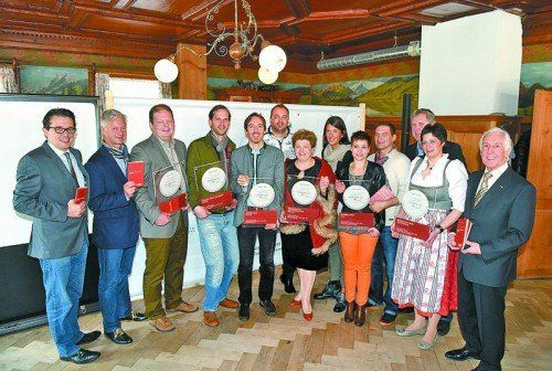 """Die Sieger in den beiden Kategorien """"Restaurants"""" und """"Traditionelle Wirtshäuser"""". Foto: U. Mittelberger"""