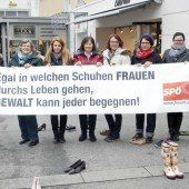 Protest gegen die Gewalt an Frauen