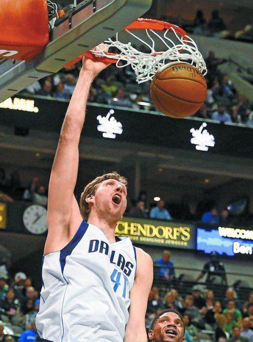 Dirk Nowitzki warf in der NBA schon 26.953 Punkte. Foto: apa