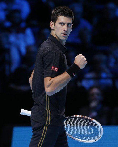 Djokovic präsentiert sich zum Saisonende stark. Foto: Reuters