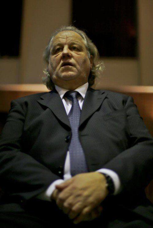 Ein sichtlich gezeichneter Hannes Kartnig im Gerichtssaal. Foto: gepa