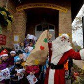 Weihnachtsmann hat seine Arbeit aufgenommen