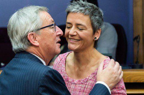 EU-Kommissarin Margrethe Vestager ermittelt in der Causa Juncker und Luxemburger Steuertricks.  AP