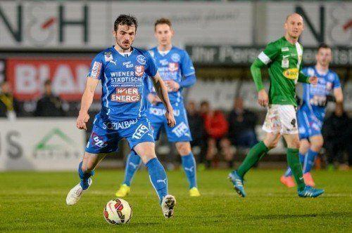 Ex-FC Lustenau-Kicker Furkan Aydogdu führte beim FAC Regie gegen eine harmlose Austria. Foto: gepa