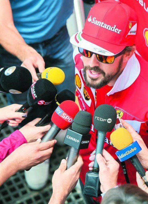 Fernando Alonso: Dreijahresvertrag mit McLaren? Foto: apa