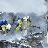 Brandausbruch beim Brötchentransport