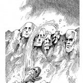 Bewegung am Mount Rushmore!