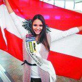Julia Furdea bei der Miss-World-Wahl
