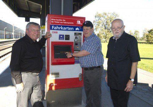 Franz Raich, Kurt Sauermoser und Peter E. Drechsler. VN/Paulitsch