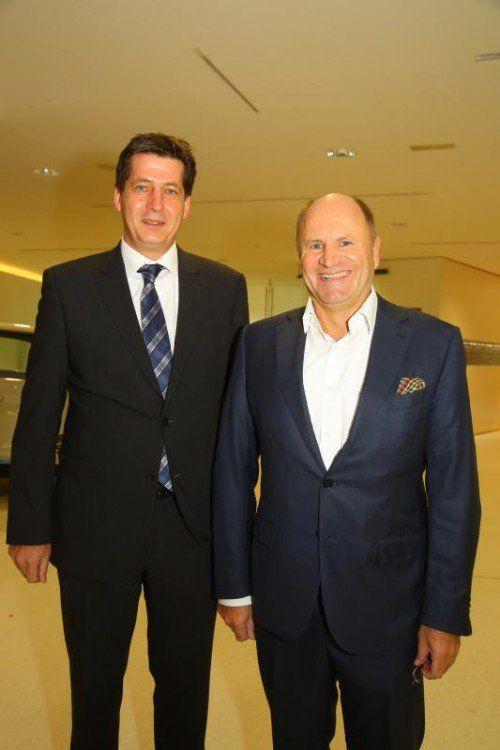GF Thomas Lorünser und Hans-Peter Metzler.  VN/Hofmeister