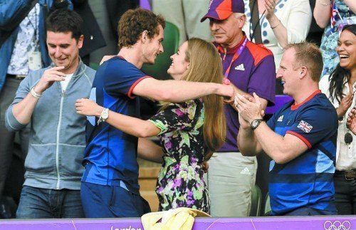 Hochzeitsglocken läuten bald: Andy Murray und Kim Sears. ap