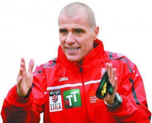 Klaus Schmidt ist neuer Chefcoach bei Wacker Innsbruck. Foto: gepa
