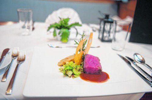 Köstliches Gericht mit Käse aus Vorarlberg, passend zur Wildsaison.  FotoS: VN/Rhomberg