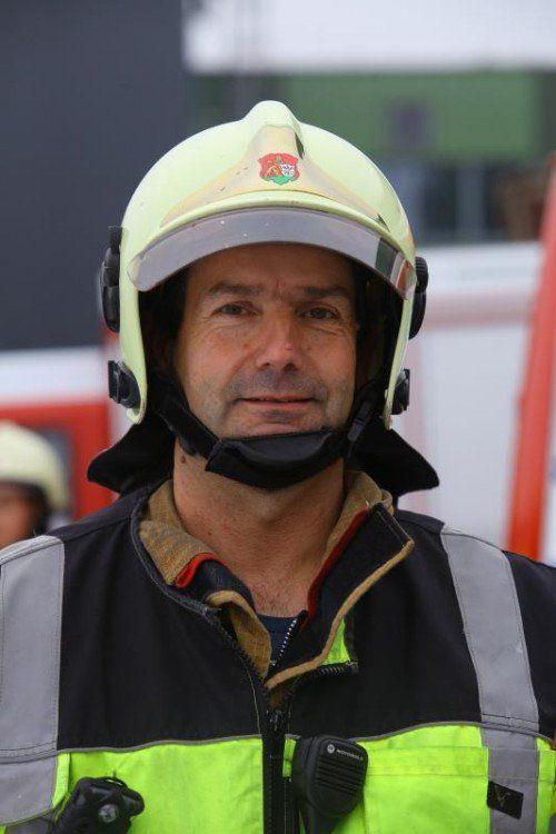 Kurt Rauch leitete den Einsatz der Feuerwehren.