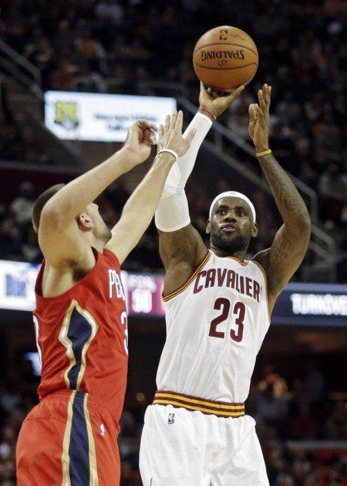 LeBron James glänzte im Spiel gegen die Pelicans. Foto: AP