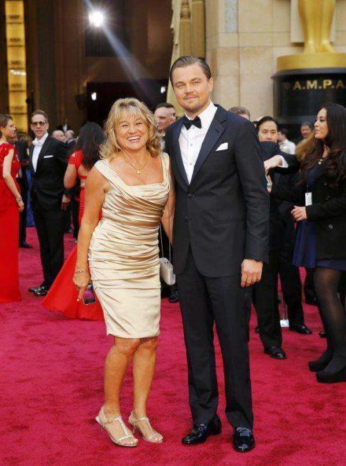 Leonardi DiCaprio mit Mama Irmelin. Foto: Reuters