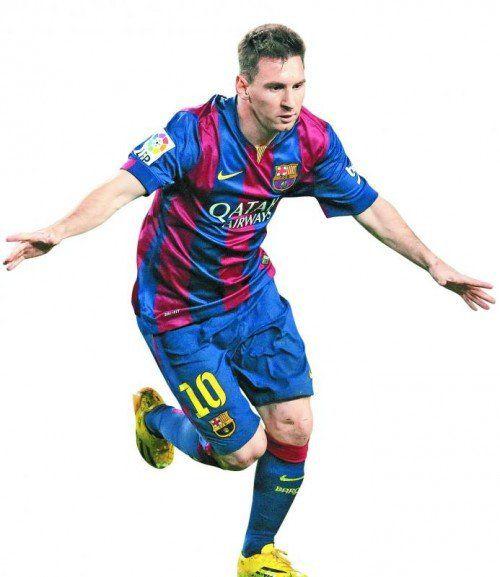Lionel Messi zeigte sich beim Auswärtssieg auf Zypern in Torlaune. Foto: ap