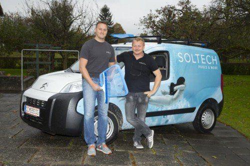 Manuel Hämmerle (Geschäftsführer Soltech Schweiz) und Soltech-Gründer Michael Humpeler.  VN/Paulitsch