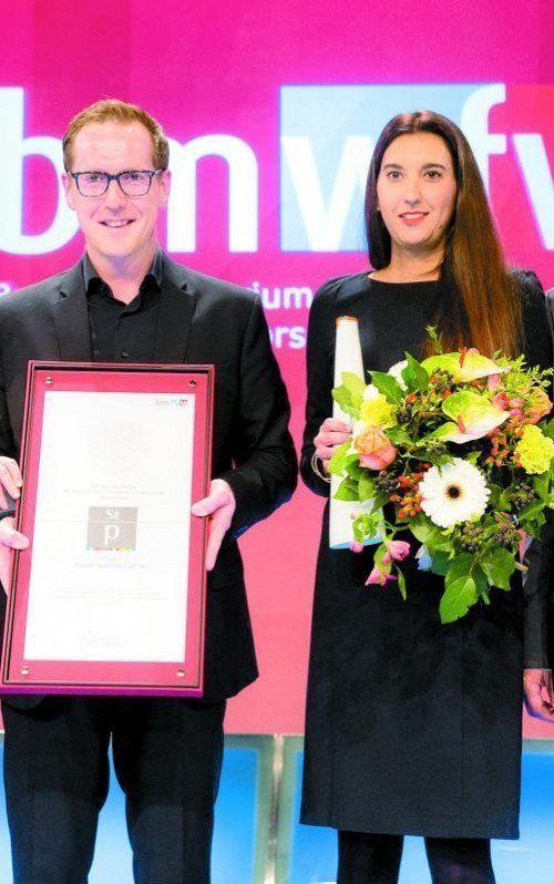 Martin Dechant und Amelie Baschnegger (ikp).  Rauchenberger