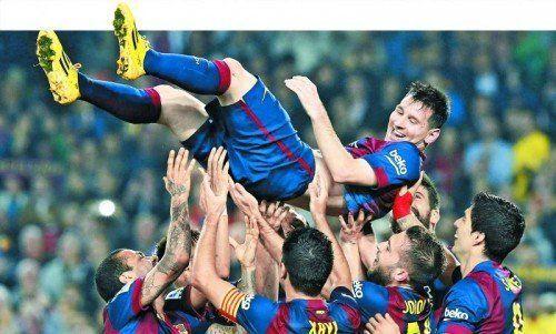 Mit einem Dreierpack war Lionel Messi beim 5:1-Erfolg des FC Barcelona über den FC Sevilla der überragende Spieler. Foto: reuters