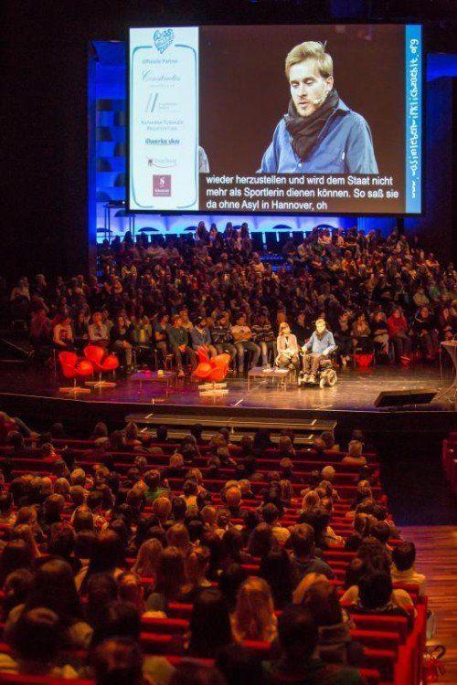 Mit über 2000 Besuchern war es die größte Tagung, die jemals im Festspielhaus stattfand.  Foto: VN/Steurer