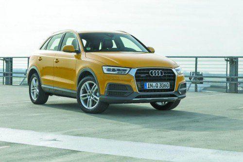 Nachgeschärft hat Audi das Design des Q3 und ebenso die Motoren- sowie die Fahrwerkstechnik. Fotos: werk