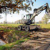 Neue Gasleitung im Lauteracher Ried verlegt