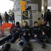 Polizei verhindert Parlamentsbesetzung