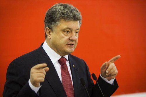 Ukraines-Präsident Poroschenko: neue Verhandlungen. REUTERS