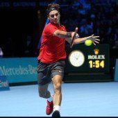 Leichte Unterhaltung mit Federer