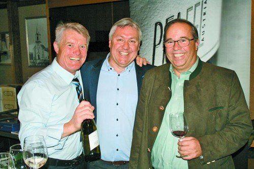 Roman Pfaffl, Werner Hagen und Walter Pfanner folgten der Einladung des Wirtschaftsvereins. Fotos: Sigi Halder