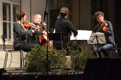 """Saisonabschluss bei """"musik in der pforte"""" mit dem """"epos:quartett"""" . FOTO: epos.quartett"""