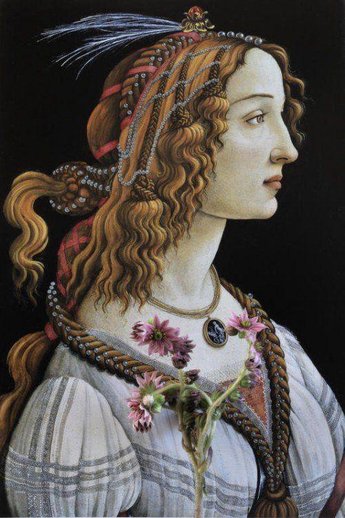 "Sandro Botticelli (1445–1510): ""Allegorisches Porträt der Simonetta Vespucci"".  Fotos: Sagmeister"