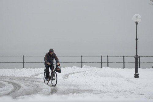 Manchmal kann Radeln im Winter mühsam sein, aber das ist auch nur eine Frage der Einstellung. VN/stiplovsek