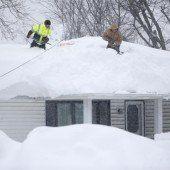 USA: Buffalo steuert auf einen Schneerekord zu