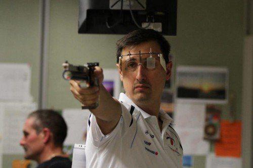 Pistolenschütze Sladjan Zoran belegte Rang zwei.  schwämmle