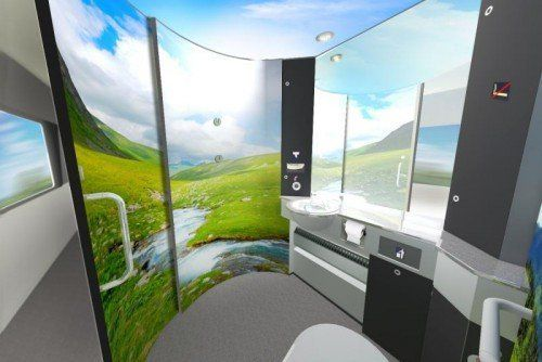 "So sieht ""Bergidyll"" in den ÖBB-Toiletten aus. Foto: ÖBB"
