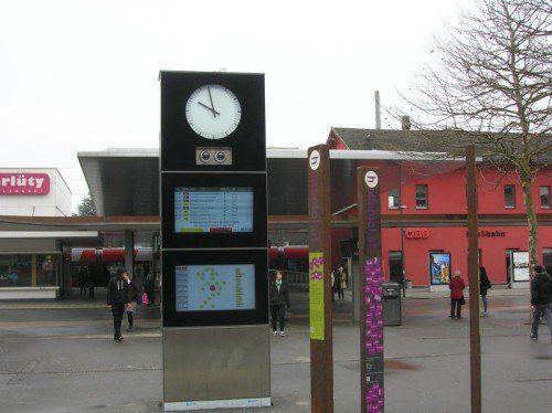 Tatort des Raubes: Der Dornbirner Bahnhof.  Foto: Hagen