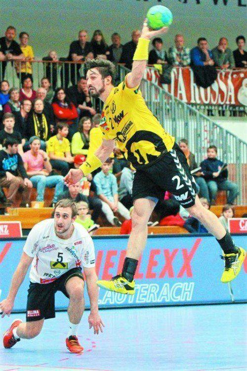 Teamspieler Lucas Mayer war mit sieben Treffern einmal mehr erfolgreichster Torschütze der Festspielstädter. Foto: hofmeister