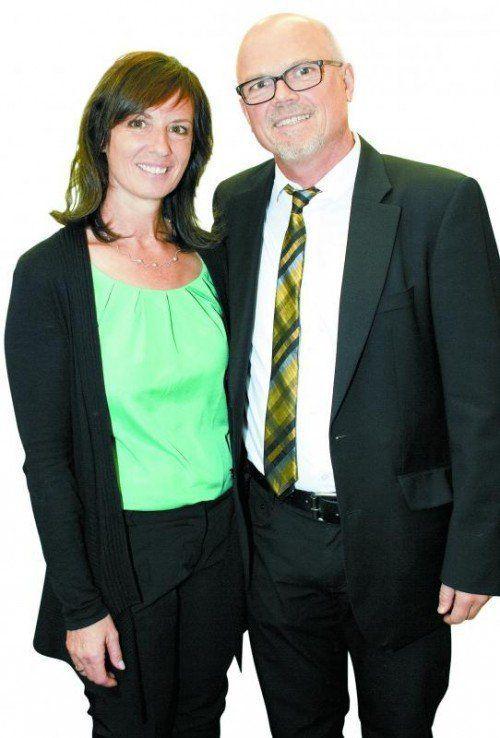 Unter den Gratulanten: Margit und Thomas Mathis. Fotos: Franc
