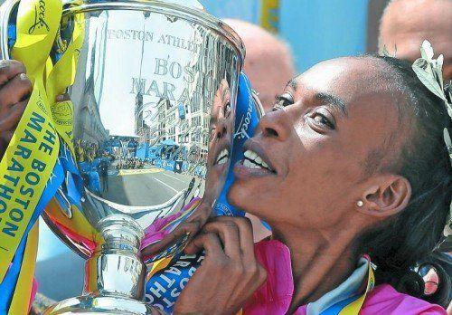 Unter Dopingverdacht: Marathon-Star Rita Jeptoo. Foto: ap