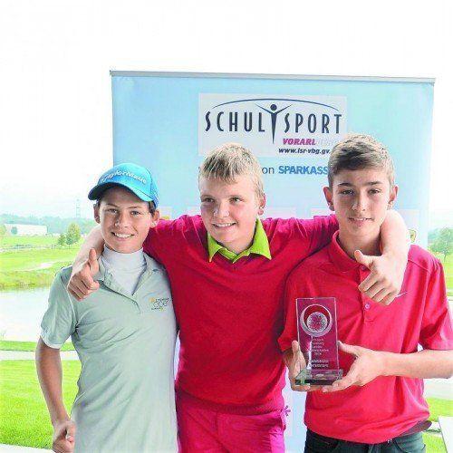 Unterstufe-Sieger: Thomas Karg, Julian Schwärzler, Linus Keckeis.