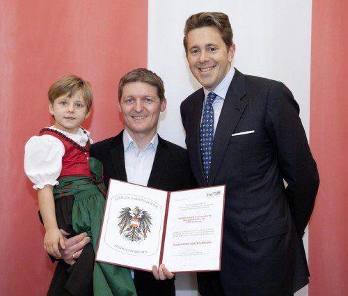 Verleihung der Staatlichen Auszeichnung durch Dr. Mahrer 30. Oktober 2014