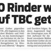 TBC: Oberallgäu setzt Reihentests aus
