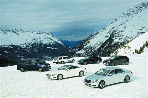 VN-Testfahrt: Noch vor dem Winterbeginn haben die VN einige der Mercedes-Allradmodelle ausgiebig getestet. Fotos: werk